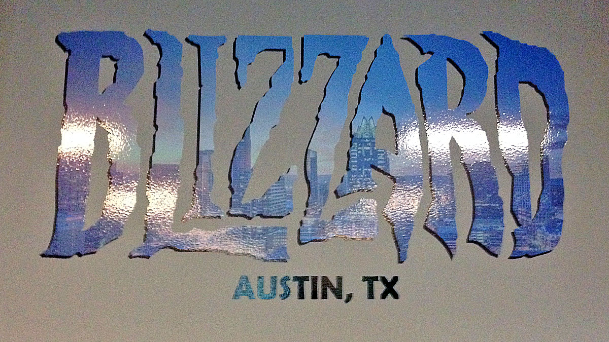 3D Letter Sign For Blizzard