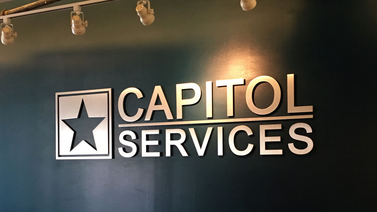 Capitol Services Lobby Sign