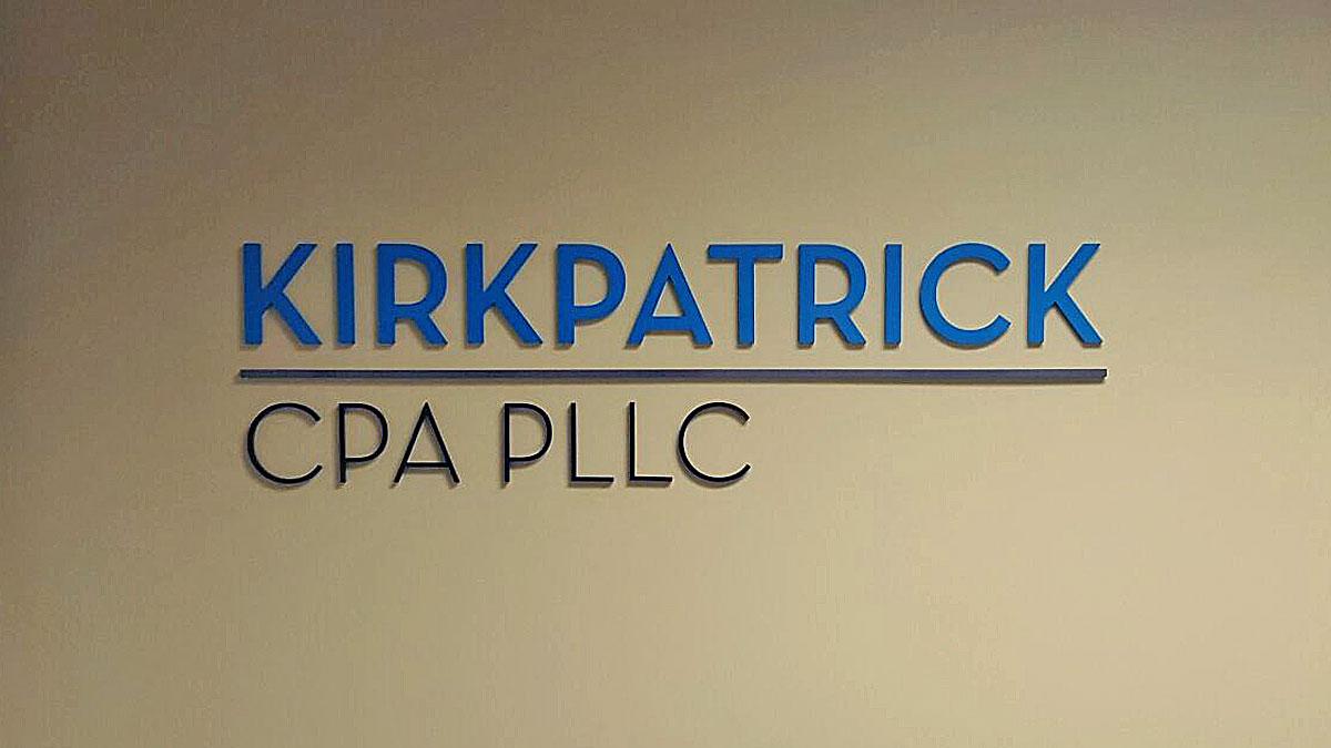 3D Letter Sign For Kirkpatrick CPA