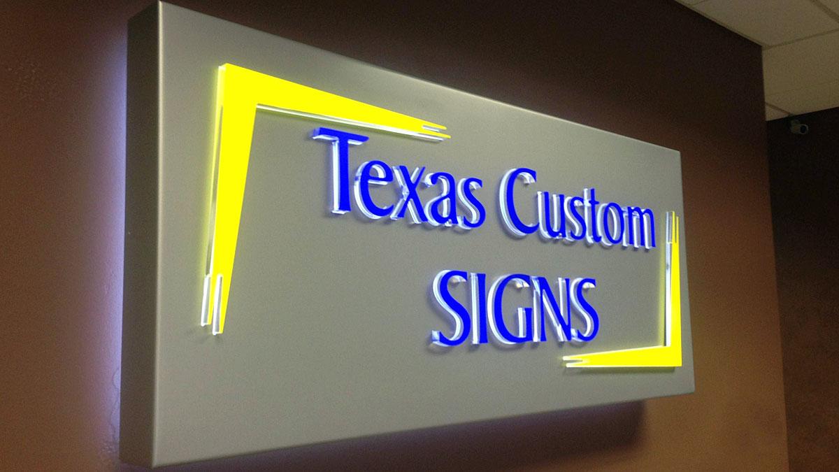 Lighted Lobby Sign For Texas Custom Signs